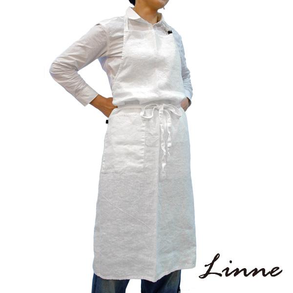 南海通商(Linne) 0118-054 エプロン WH