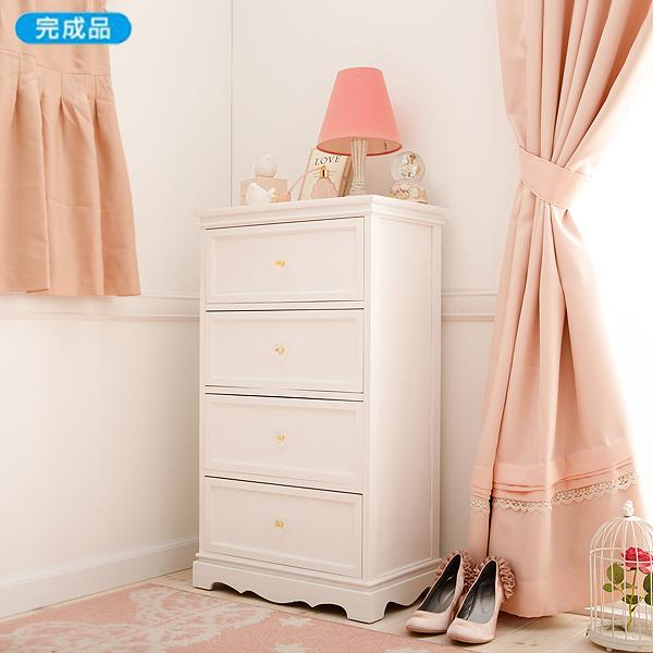 【送料無料】 シリーズ家具 FB72 チェスト小 (zacca) 収納 ホワイト 大人可愛い 【直送】