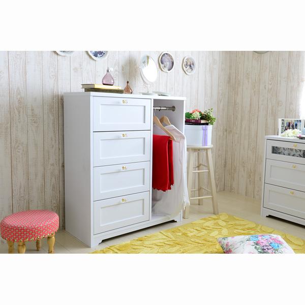 【送料無料】 選べる取っ手の家具シリーズVBQ ハンガー付きチェスト (zacca) 【直送】