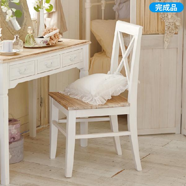【送料無料】 パソコンチェア アンティーク風家具UB60 チェアー(zacca) ( チェア 椅子 イス いす パソコンチェアー 白 ホワイト ワークチェア ) 【直送】