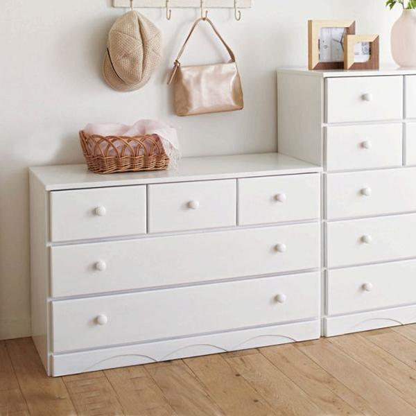【送料無料】 木製チェストUB B(87cm幅・5杯) (zacca) 【直送】