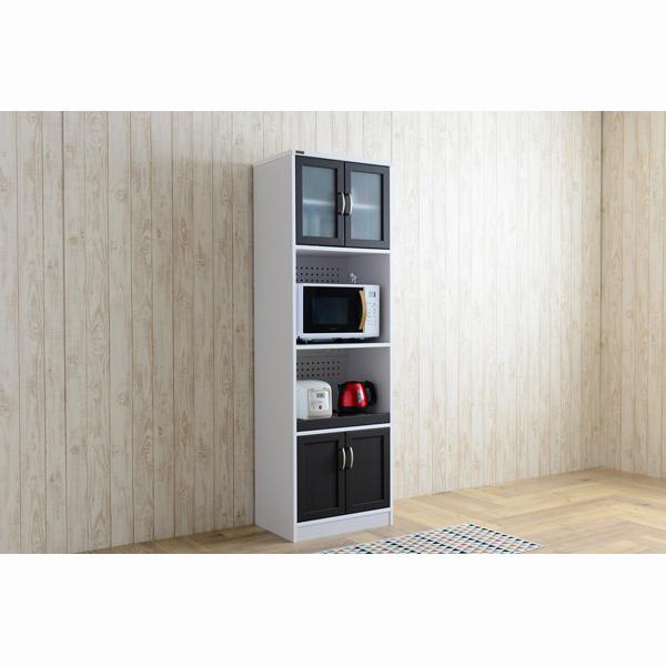 【送料無料】 食器棚UQ3 D(幅58cm/高さ182cm) (zacca)( カップボード キッチン 収納 キッチンボード キャビネット モダン 木製 ) 【直送】