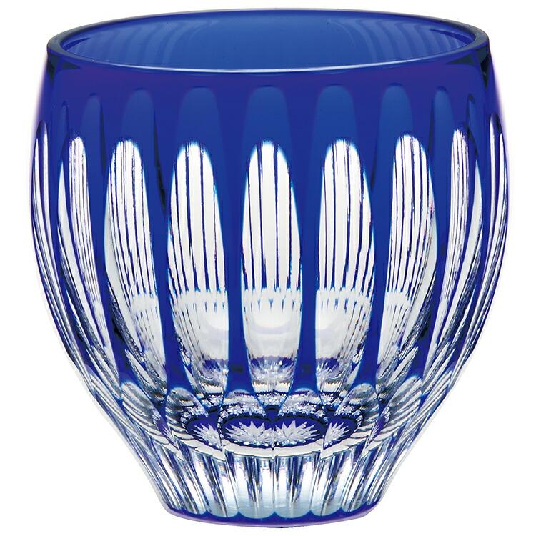 【東洋佐々木ガラス】日本酒グラス 杯 八千代切子 水鞠 ブルー 140ml 【お取り寄せ可能】 LS19762SULM-C744