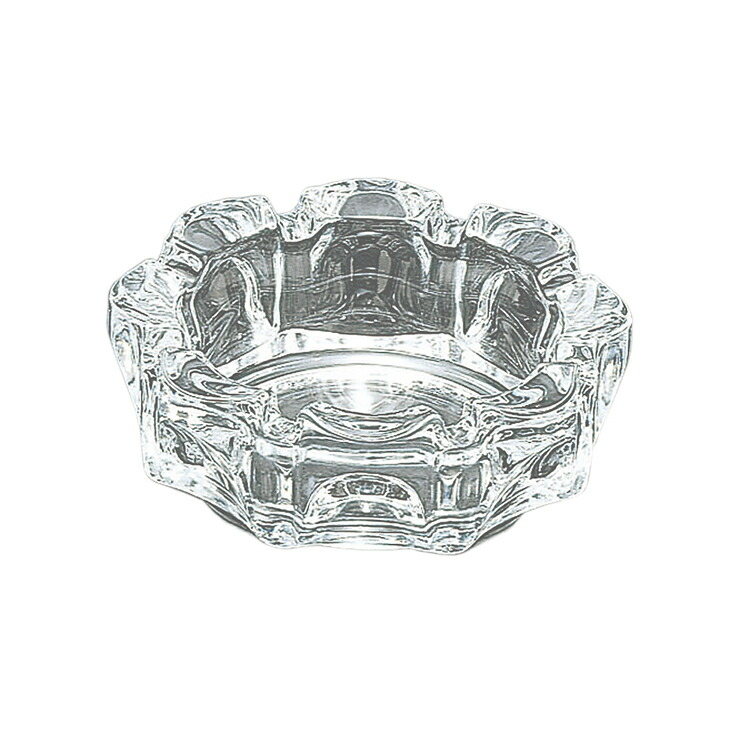 東洋佐々木ガラス 灰皿 ローラー 小 日本製 (ケース販売) 60個セット クリア 約φ11.2×3.8cm (P-05533-JAN)