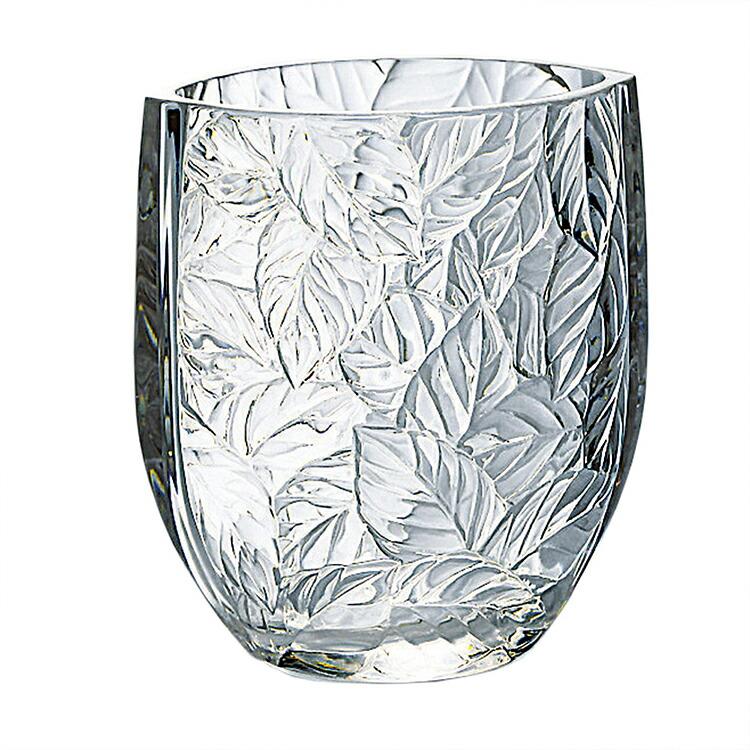 東洋佐々木ガラス フラワーベース 花瓶 リーフ 日本製 (ケース販売) 24個セット クリア 約12.3×11.6×7.6cm (P-26433-JAN) 【送料無料】