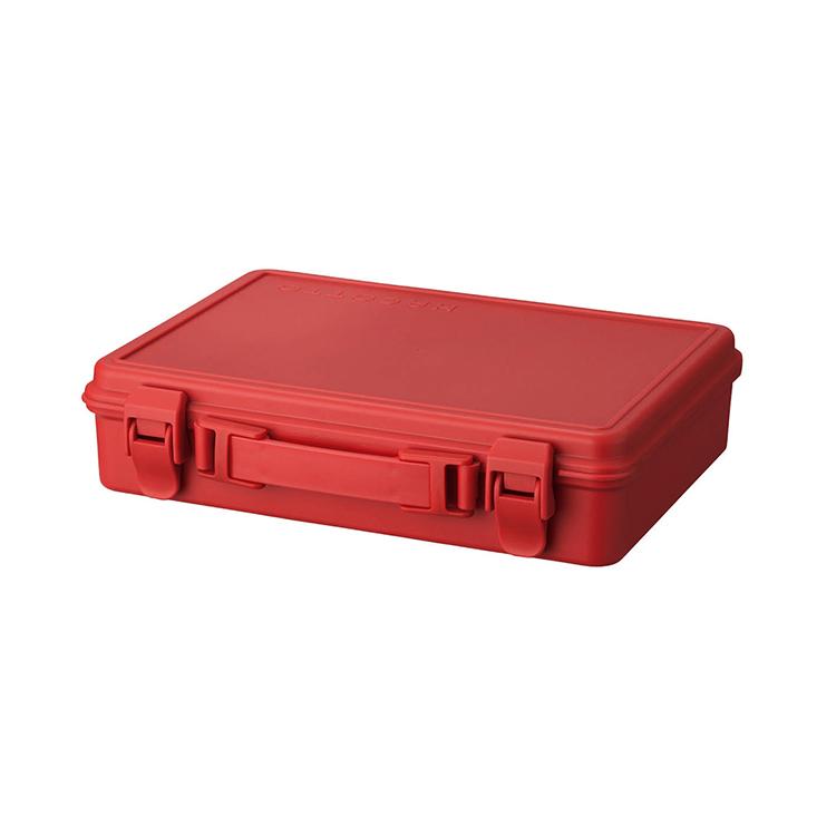 収納 ケース 定番 授与 プラスチック クローゼット リビング 人気 収納ボックス トランク 天馬 サニーレッド ハコット