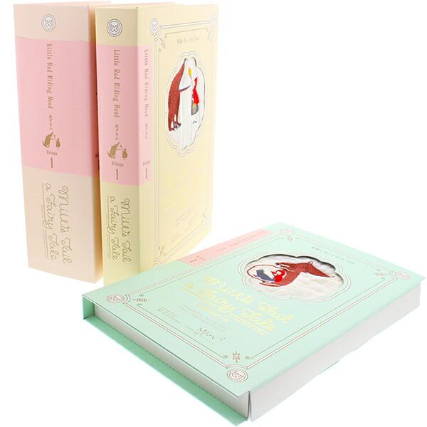【楠橋紋織】【送料無料】タオルセット MiW ブックギフト赤ずきん 3枚組 紺 18×26×15cm