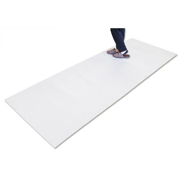 【日泉ポリテック】キッチンマット EVA樹脂 拭き取り簡単 清潔 日本製 半透明 90×270cm