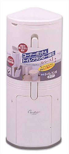 トイレ用品 トレイ用品 好評 コーナーポット 東和産業 トイレブラシ トイレコンポ コーナー用 ケース 定価の67%OFF 日本製 ダストボックス ホワイト