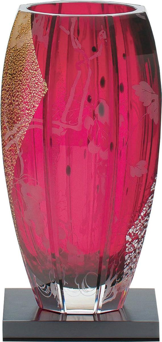 【お取り寄せ可能】【東洋佐々木ガラス】花瓶 葡萄 花器 クリスタルガラス (LV68904-AU20-S150) 【送料無料】