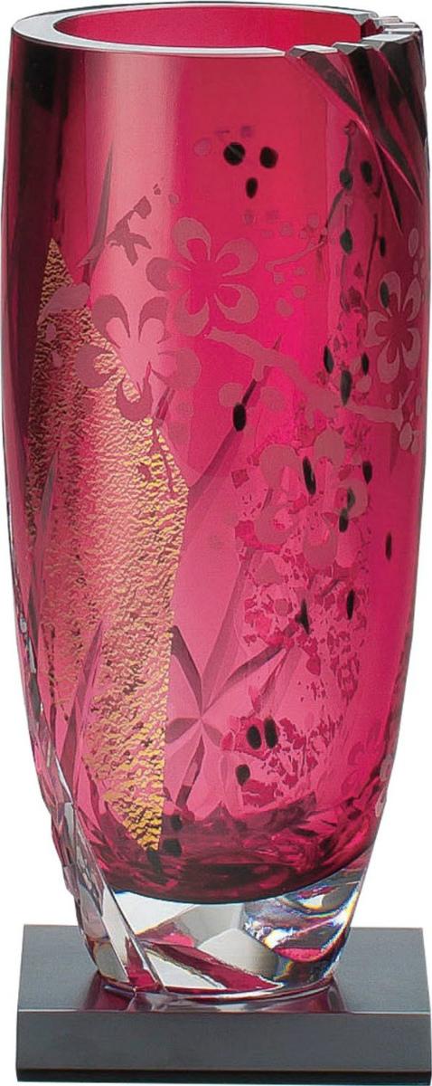【お取り寄せ可能】【東洋佐々木ガラス】花瓶 専用木製台・木箱付き 小 (LV68903-AU10) 【送料無料】