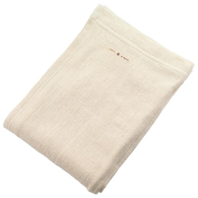 【益久染織研究所】和紡布 和防 ブランケット 生成 (約140×200cm) (1014-002)