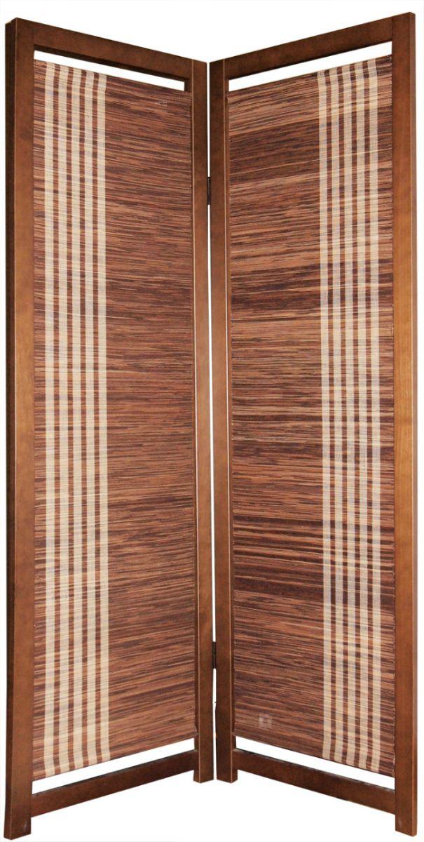 【大湖産業】 パーテーション 2連 衝立 アバカ ブラウン (53×170cm)×2連 (SD-7102) 【送料無料】