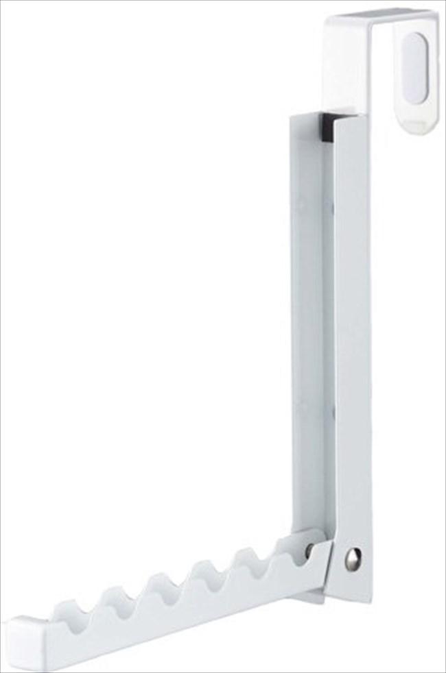 【山崎実業】ハンガー 折り畳みドアハンガースマート ホワイト 7161 【メール便】