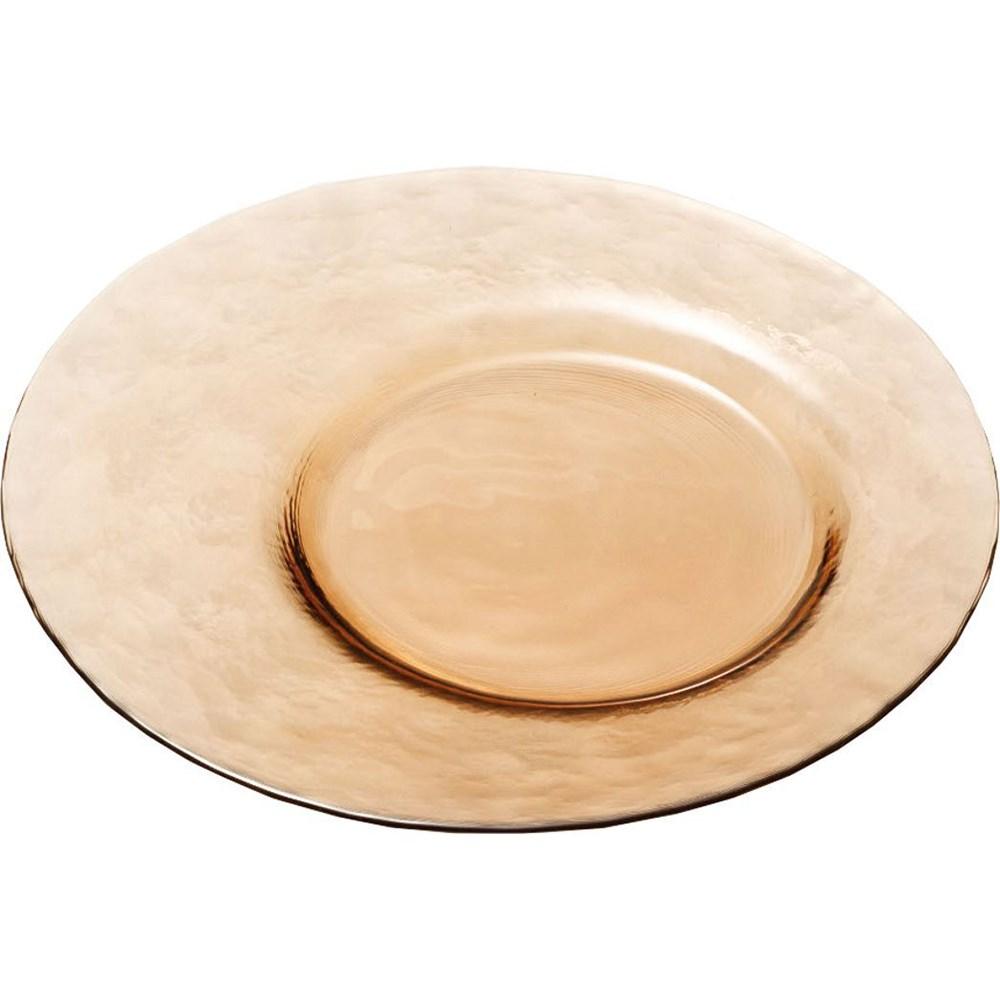 【お取り寄せ可能】【東洋佐々木ガラス】プレート カフェトレー 皿 24cm 30枚セット ケース販売 ブラウン (46065NBR-1ct) 【送料無料】