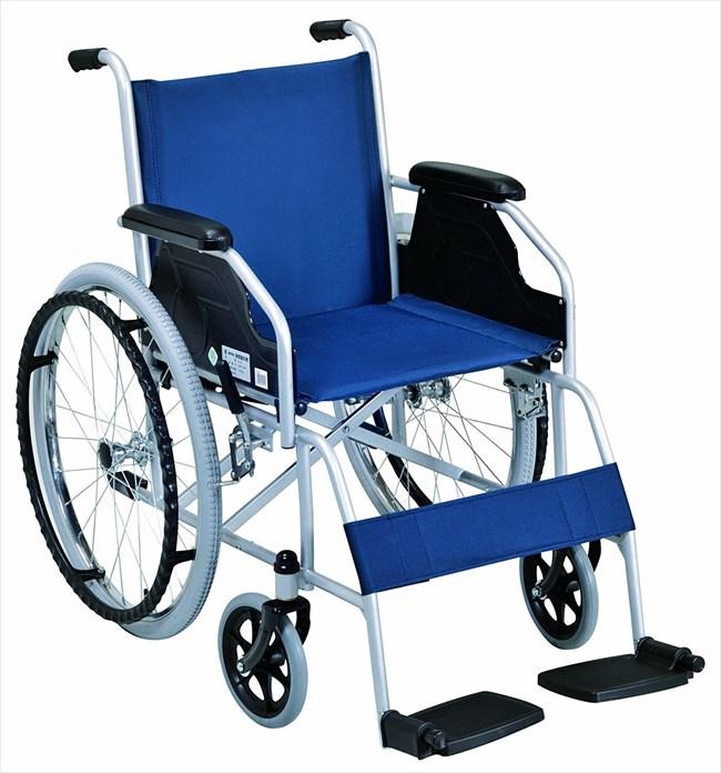 【幸和製作所】車椅子 テイコブ標準型車いす ネイビー B-09 [自走式] 【送料無料】