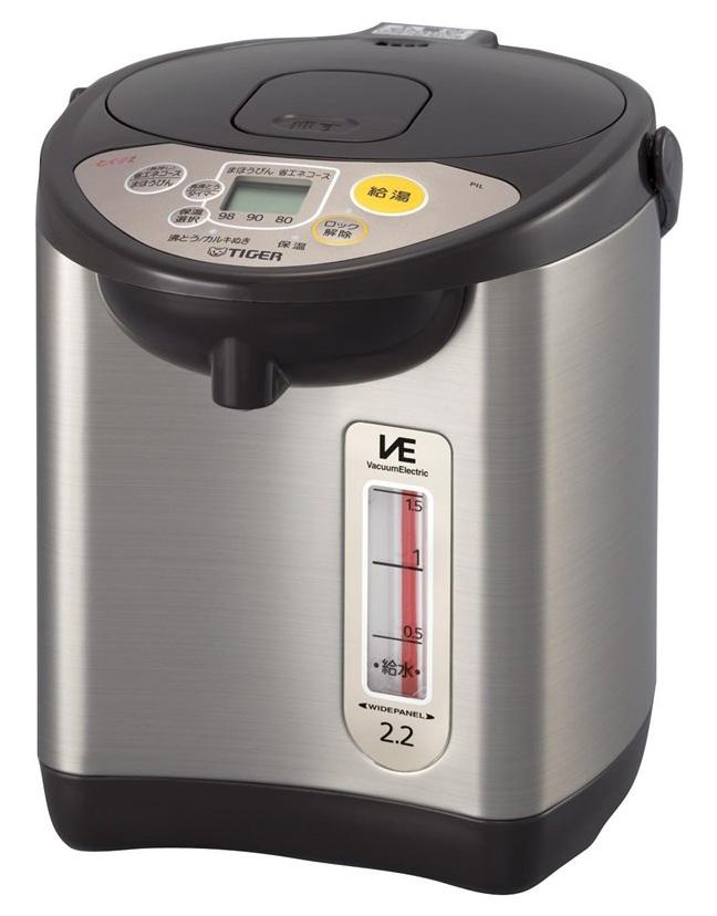 【タイガー魔法瓶】魔法瓶 電気 ポット 2.2L 節電 VE 保温 とく子さん PIL-A220-T ブラウン 【送料無料】