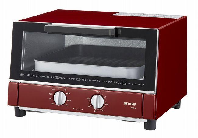 【タイガー魔法瓶】オーブン トースター レッド やきたて KAM-G130-R Tiger 【送料無料】