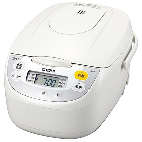 【タイガー魔法瓶】マイコン炊飯ジャー(5.5合炊き) ホワイトTIGER JBH-G101-W 【送料無料】