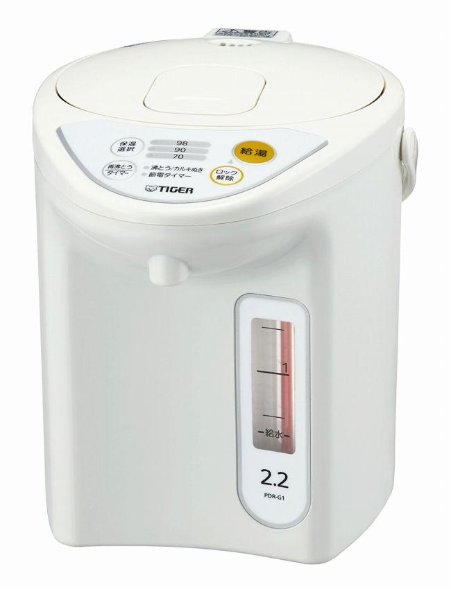 【タイガー魔法瓶】魔法瓶 マイコン 電気 ポット 2.2L ホワイト PDR-G221-W Tiger 【送料無料】