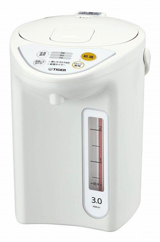 【タイガー魔法瓶】魔法瓶 マイコン 電気 ポット 3L ホワイト PDR-G301-W Tiger 【送料無料】