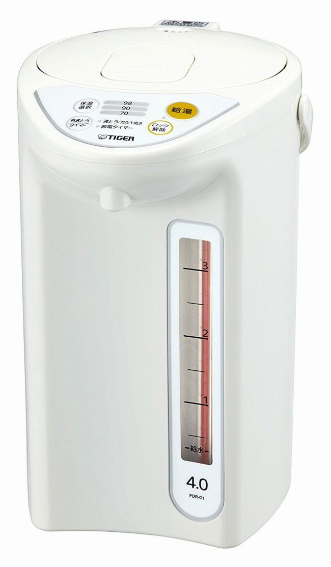 【タイガー魔法瓶】魔法瓶 マイコン 電気 ポット 4L ホワイト PDR-G401-W Tiger 【送料無料】