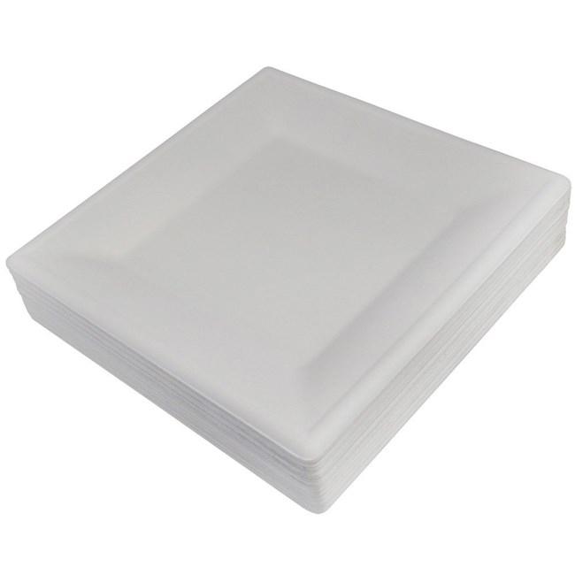 【シンワ】業務用 紙皿 モールドスクエアプレート 26×26cm 50枚入り BP-17