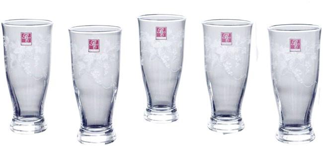 【お取り寄せ可能】【東洋佐々木ガラス】 ビールグラス グレープガーデン ピルスナーセット 5個入り 295ml 【送料無料】