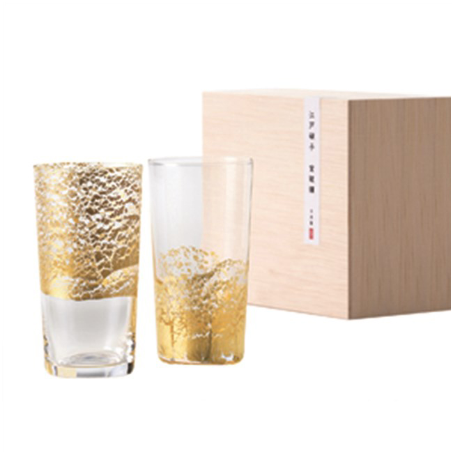 【お取り寄せ可能】【東洋佐々木ガラス】江戸硝子 金玻璃 冷酒杯吟醸揃え 130ml 2個セット 日本製 (G641-T79) 【送料無料】