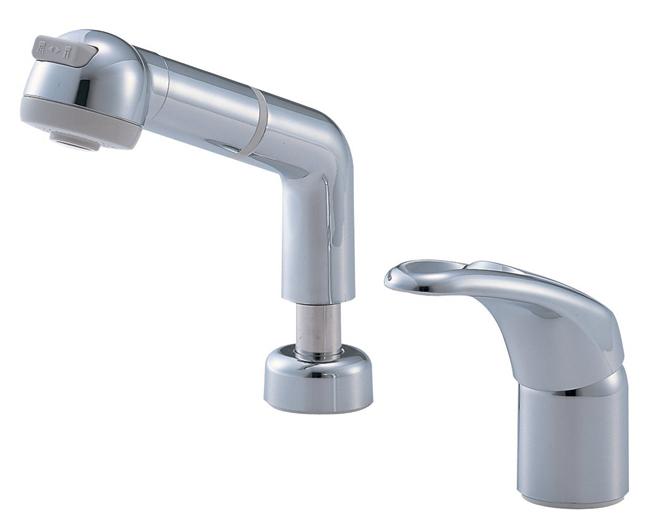 三栄水栓 【洗面用混合栓】 シングルスプレー混合栓 洗髪用-13(K3761JV-C)