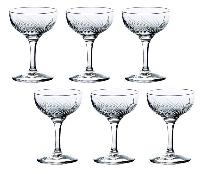 【お取り寄せ可能】【東洋佐々木ガラス】 シャンパングラス トラフ ソーサー型 6個セット 135ml