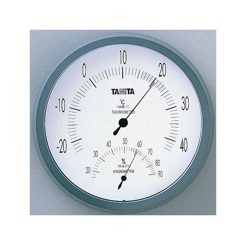 最短即日発送可 インテリア 家具 収納 時計 最新 お歳暮 グレー タニタ 温湿度計 TT-492-GY