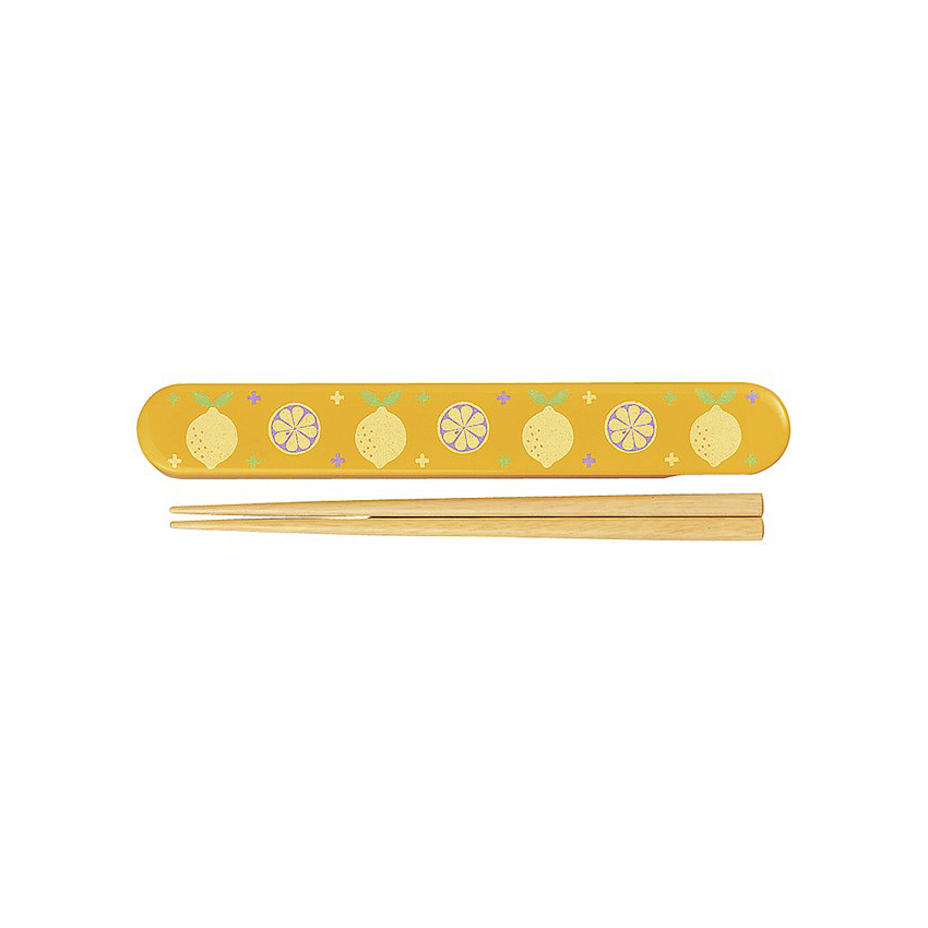 最短即日発送可 行楽 弁当 迅速な対応で商品をお届け致します 弁当小物 宮本産業 箸 箸18cm アルテ レモン 無料 箸箱セット