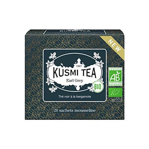 KUSMI TEA クスミティー アールグレイ 2.0g x 20ティーバック(個包装なし) オーガニック 有機JAS認証 紅茶 [正規輸入品]