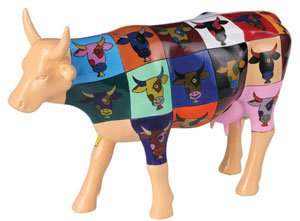 CowParade Pop Art Cow (Museum Edition) by