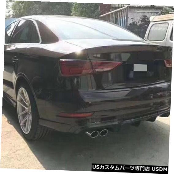 正規激安 輸入カーパーツ A3 S3車体キットアウディA3 S3 S3リアバンパー用カーボンファイバーリアバンパーリップディフューザー13-16 rear A3 for S3 Car Body Kits Carbon Fiber rear bumper lip diffuser for Audi A3 S3 rear bumper 13-16, JET PRICE:61463ab0 --- gerber-bodin.fr