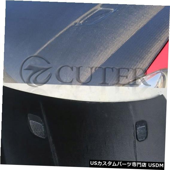 輸入カーパーツ フォルクスワーゲンゴルフ6カーボンファイバーエンジンフードカバーベント 2つの小さな穴付き 車体キット10-12 For Volkswagen Golf 6 Carbon fiber engine hood cover vents with
