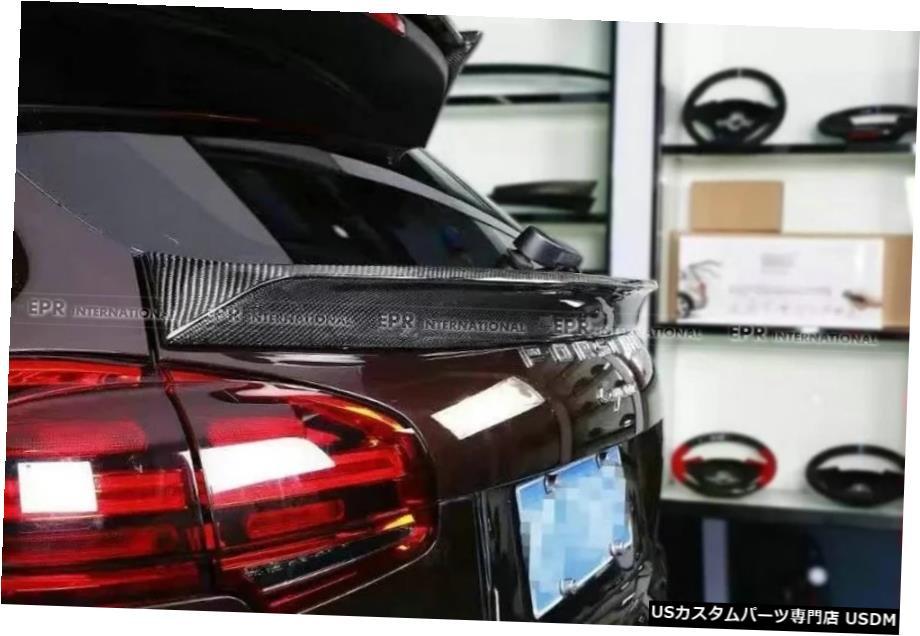<title>車用品 バイク用品 >> パーツ その他 輸入カーパーツ 定番 2011年以降のカイエン958LMスタイルブーツスポイラーカーボンファイバーカースタイリング For 2011+ Cayenne 958 LM Style Boot Spoiler Carbon Fiber Car-Styling</title>