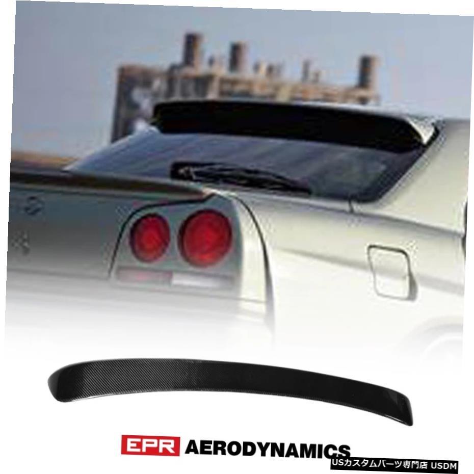 <title>車用品 バイク用品 >> パーツ その他 輸入カーパーツ 日産スカイラインR34GTR GTS2ドア2Drクーペカーボンファイバールーフスポイラー光沢ファイバーリアウィンドウウィングボディキット用ボディキット Bodykits 新色 For Nissan Skyline R34 GTR GTS 2 Door 2Dr Coupe Carbon Fiber Roof Spoiler Glossy Fibre Rear W</title>