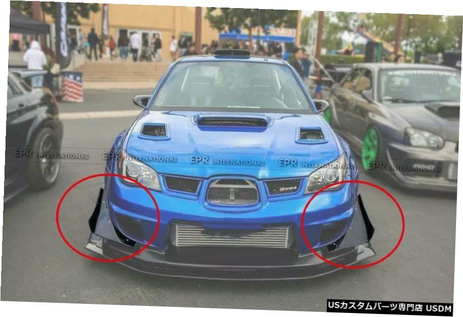 【オンラインショップ】 輸入カーパーツ スバルインプレッサ9GenGDB Canards FVTXスタイルカーボンワイドフロントバンパーカナードアドオントリムボディキット用 Carbon For For Subaru Impreza 9Gen GDB F VTX-Style Carbon Wide Front Bumper Canards Addon Trim bodykits, 松之山町:f0d60471 --- jeuxtan.com