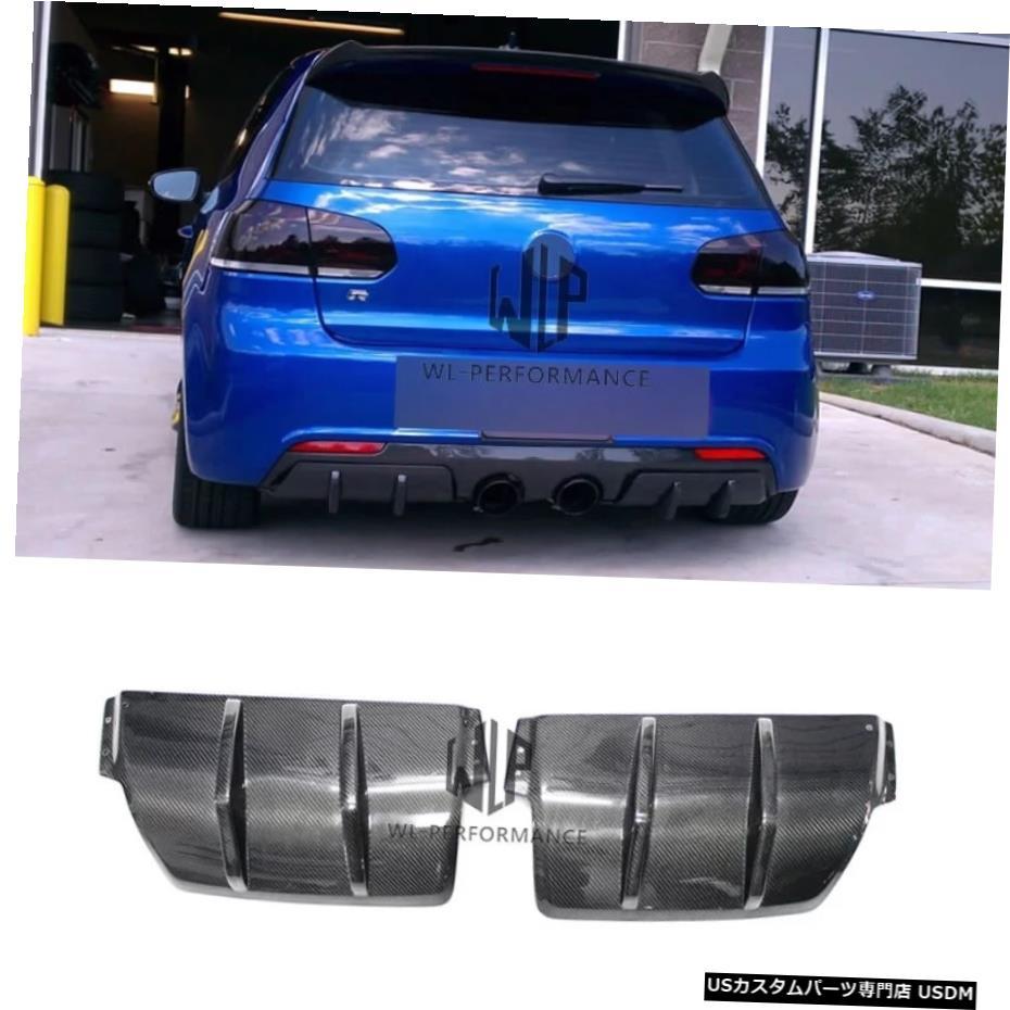 格安SALEスタート! 輸入カーパーツ Golf 6 Rear Styling R202ピース高品質カーボンファイバーリアバンパーリップディフューザーカースタイリングフォルクスワーゲンゴルフ6R20カーボディキット2012 Golf 6 R20 Diffuser Two Pieces High Quality Carbon Fiber Rear Bumper Lip Diffuser Car Styling For Volkswagen, 雑貨ショップぽけっと:90cc3e85 --- mail.ciabbatta.com.pl