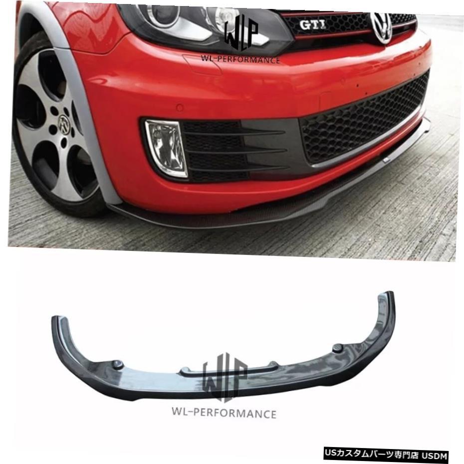 車用品 新作 バイク用品 >> パーツ その他 輸入カーパーツ ゴルフ6高品質カーボンファイバーフロントバンパーリップスポイラーフォルクスワーゲンゴルフ6GTIRZスタイルカーボディキット2009-2013 ストアー Golf 6 High Quality Carbon Fiber Lip RZ GTI Volkswagen Car Style Bo Spoiler Bumper Front for Styling