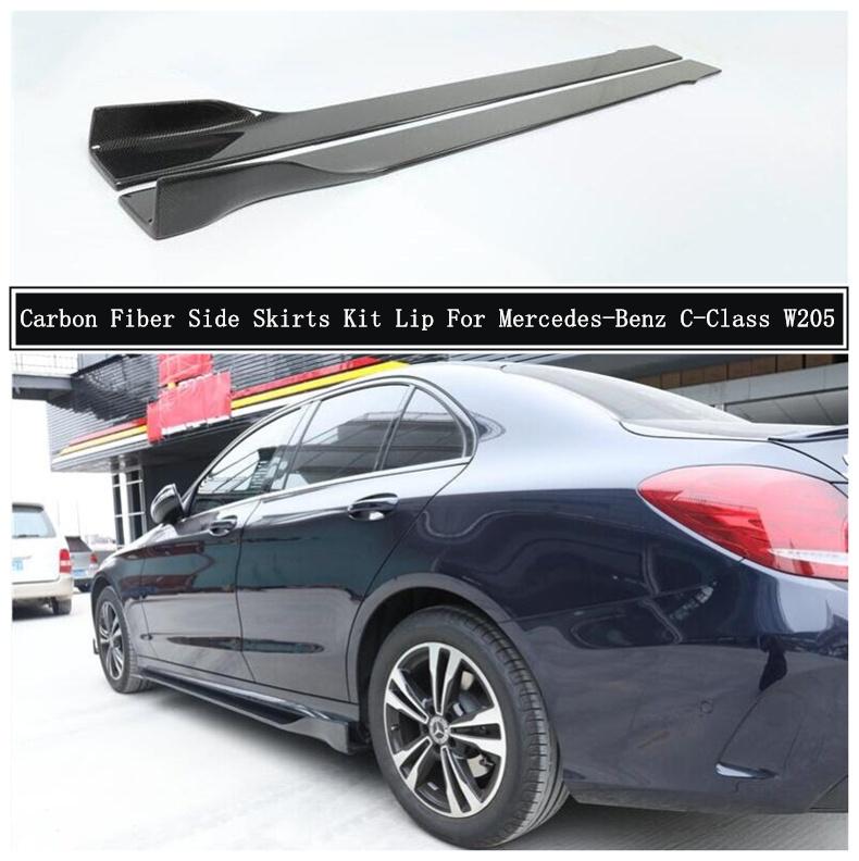 リアル 輸入カーパーツ メルセデスベンツW205C180 C200 Trim C260 C300 C43 C63 2015-2021カーアクセサリー用カーボンファイバーサイドボディスカートキットリップトリムスポイラー Carbon Mercedes-Benz C43 Fiber Side Body Skirts Kit Lip Trim Spoiler For Mercedes-Benz W205 C180 C200 C260 C300 C43, b-square:594efaf1 --- agrohub.redlab.site