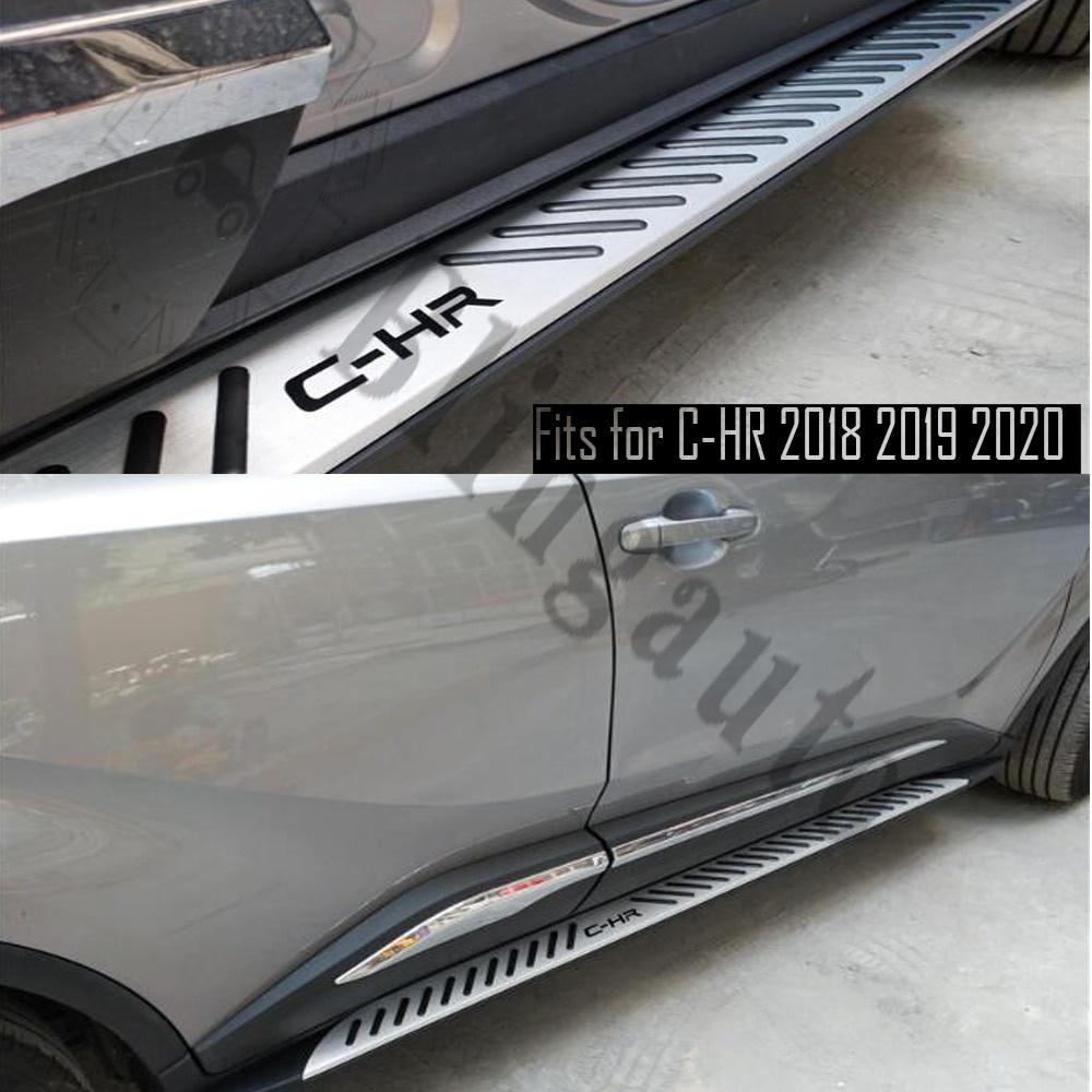 早割クーポン! 輸入カーパーツ ランニングボードはT.oyotaC-HR CHR 2019 2018 2018 20192020サイドステップナーフバーカーペダルサイド階段サイドバーに適合 C-HR Running board fits for T.oyota C-HR CHR 2018 2019 2020 side steps nerf bar car pedal side stairs side bar, スナガワシ:d057371b --- superbirkin.com