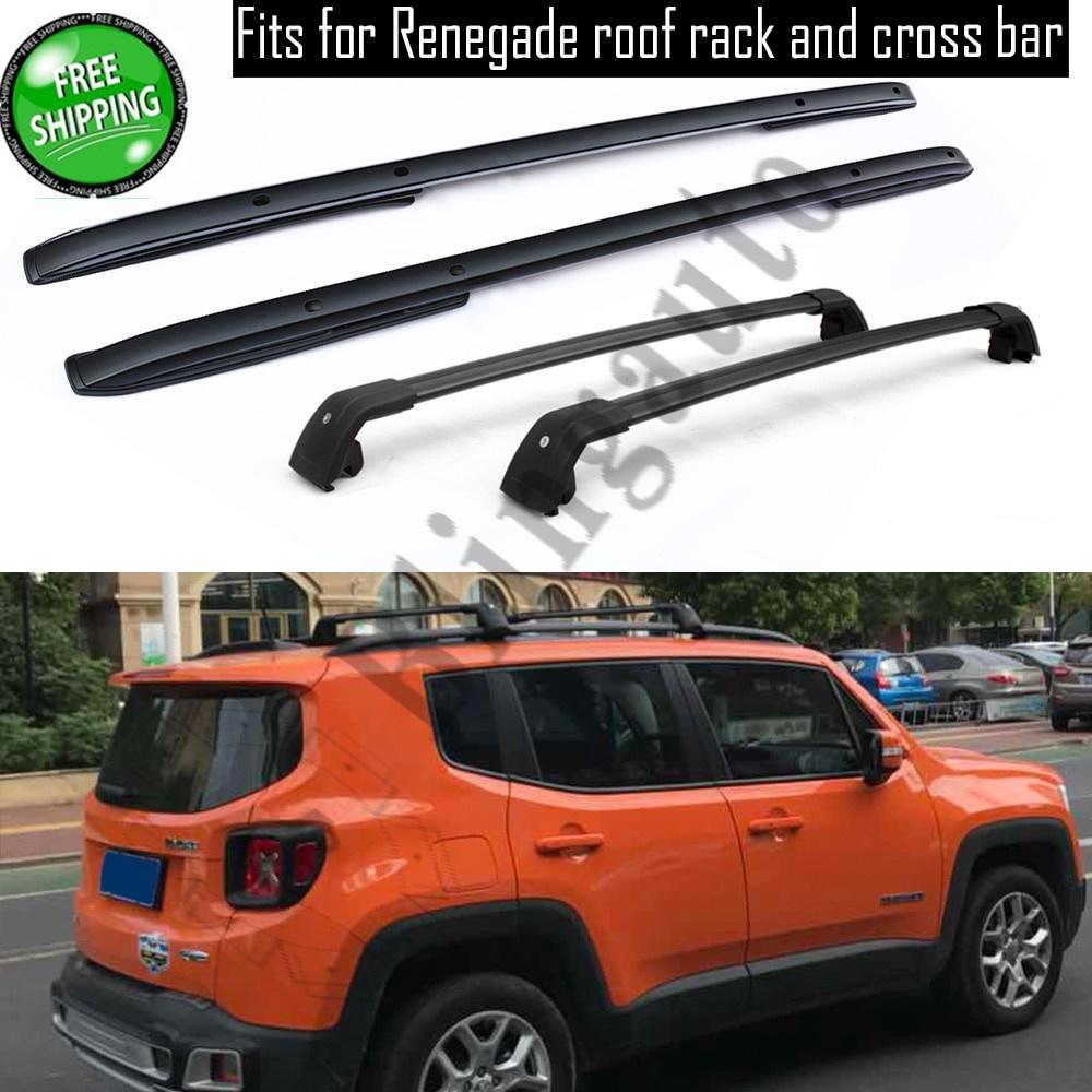 【人気商品!】 輸入カーパーツ for Renegade ジープレネゲード2015-2020用の4個のアルミニウムフロントリア左右ルーフラックレールバークロスバークロスフィット 4Pcs aluminium front rear left bar right roof rack rail bar crossbar cross fits for J-e-e-p Renegade 2015-2020, 漆器かりん本舗:7e261545 --- mail.ciabbatta.com.pl