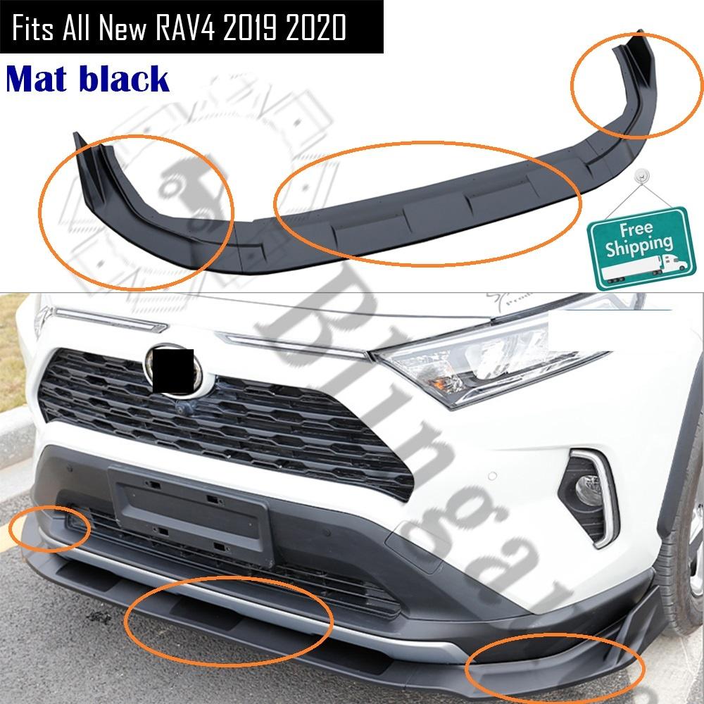 車用品 バイク用品 >> パーツ 百貨店 その他 輸入カーパーツ フロントディフューザーはトヨタに適合すべての新しいRAV42019 2020 ABSプラスチックフロントリップカーバンパーリップスプリッターディフューザーマットブラック Front diffuser fits for RAV4 oyota bumper all 2019 オンラインショッピング lip plastic front T ABS new car
