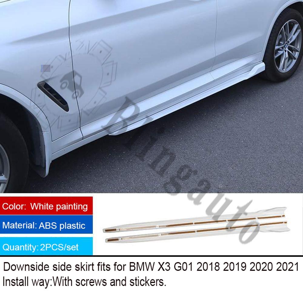 【爆買い!】 輸入カーパーツ BMW white X3 G01 2018-2021サイドスカートMスタイルスポーツプロテクトサイドビームABSプラスチックホワイト塗装に適合 side Fits for BMW X3 plastic G01 2018-2021 side skirt M style sport protect side beam ABS plastic white painting, Leciel Style:76237f41 --- jeuxtan.com
