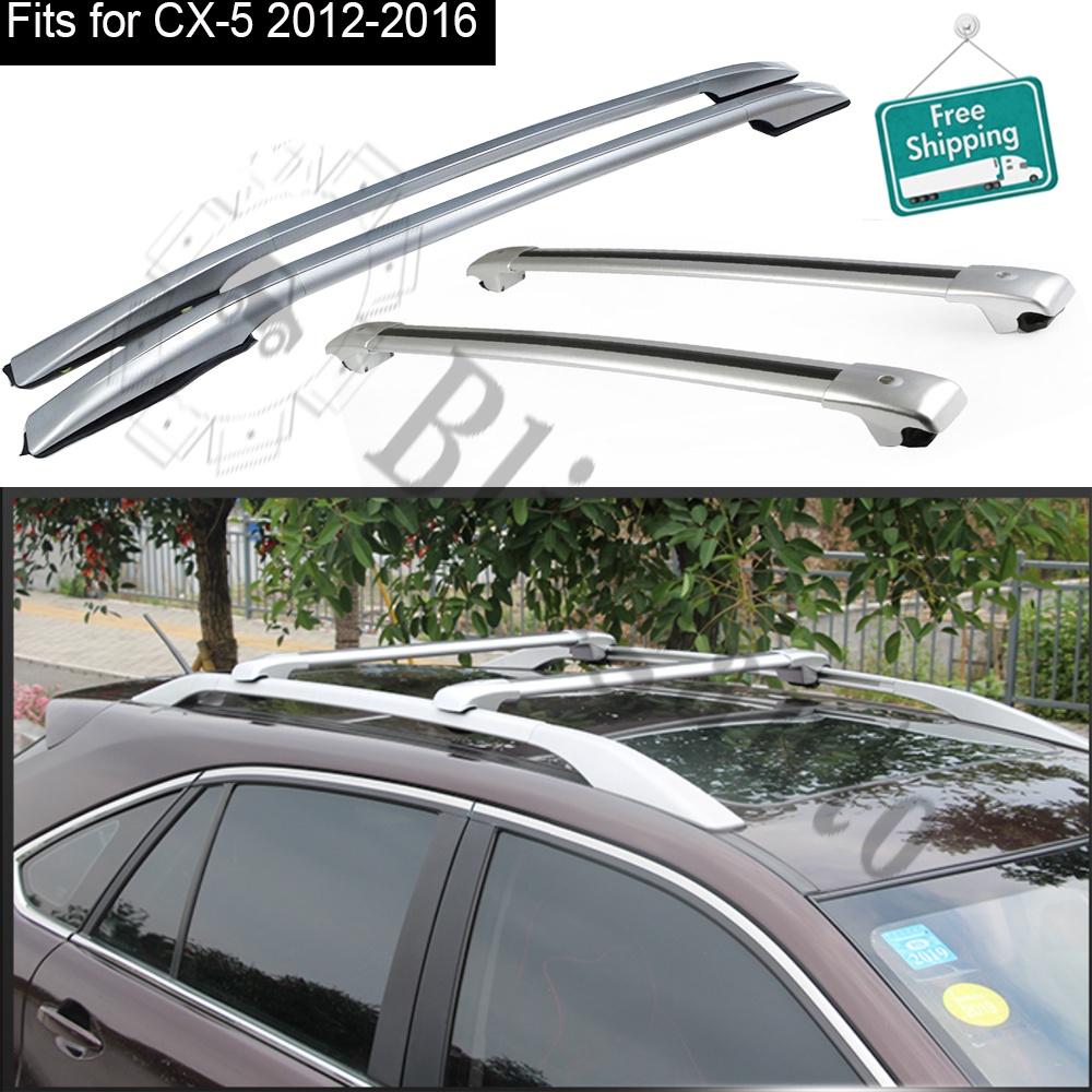 超人気新品 輸入カーパーツ ルーフラックとクロスバー4PCSは-MazdaCX-52012-2016アルミニウムキャリアすべてのラックに適合シルバーバゲッジレール Roof rails rack and cross bar 4PCS 4PCS Roof fits for -Mazda CX-5 2012-2016 aluminum carrier all racks silver baggage rails, いころソーラーパネルの通信販売:2b1427d4 --- killstress.org