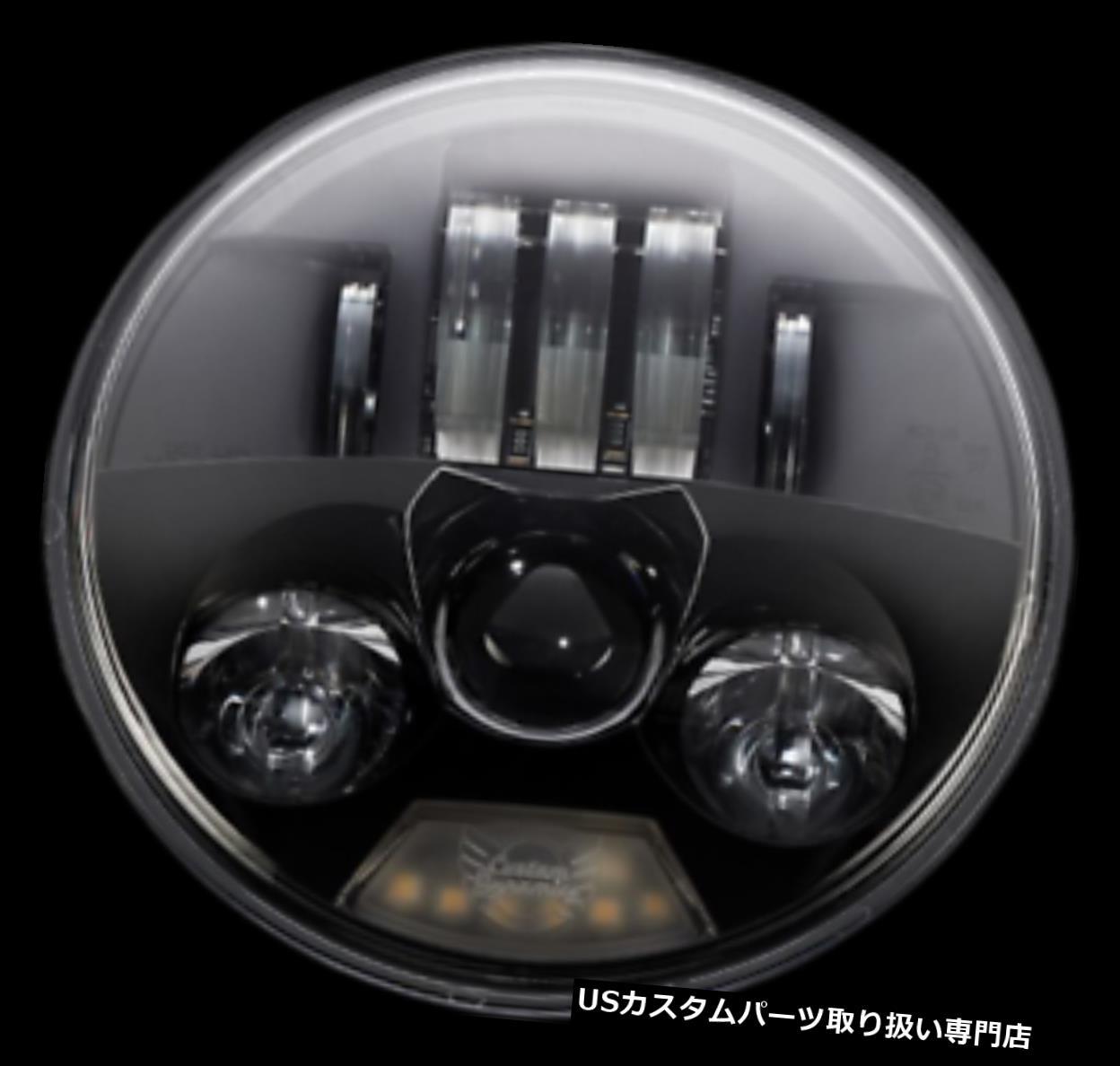 日本に USヘッドライト カスタムダイナミクスブラックProbeam 5 3/4