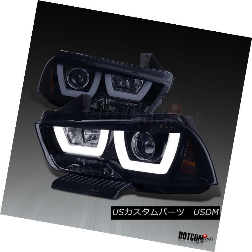ヘッドライト 2011-2014 Dodge Charger Glossy Black Dual Halo LED DRL Projector Headlights Pair 2011-2014 Dodge Charger Glossy BlackデュアルHalo LED DRLプロジェクターヘッドライトペア